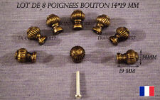 POIGNEE  BOUTON LOT DE 8 TIROIR  DECO MEUBLE METIER  COULEUR BRONZE + VIS 14 mm