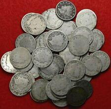 1883-1912D 50 coin Liberty Nickel lot Super Roll #20001883