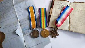 WW1 Naval Original Medal Trio. Alfred Thain 344427. Plus.