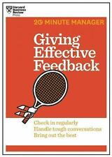 Giving Effective Feedback (20-Minute Manager Series)  Harvard Business Review PB