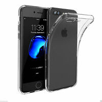Transparent Clear Silicone Slim Gel Case and Screen Protector for iPhone 6s/7