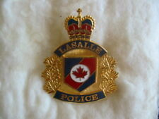 VINTAGE HAT BADGE OF THE LASALLE POLICE, ONTARIO, CANADA
