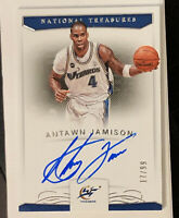 2017-18 National Treasures Rare Signatures ANTAWN JAMISON ON-CARD AUTO /99 🔥