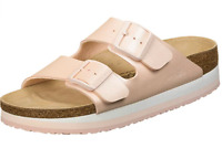 Birkenstock Papillio ARIZONA Icy Metallic Light Rose Platform 1015870 US 7 EU 38