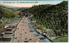 HOT SPRINGS, Arkansas  AR    Worlds Sanitarium as seen in 1875   1922  Postcard