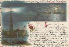 Gruss aus Swinemünde AK 1899 Litho Swinoujscie Leuchtturm Polen Polska 1702066