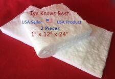 2pcs Ceramic Fiber Blankets 1x12x24 8 Up To 3200f High Temp Insulation Usmfg