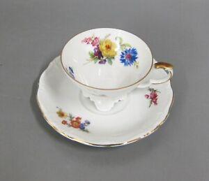 Kaffeetasse mit UT Tasse Edelstein Maria Theresia Blumenbouquet Goldrand