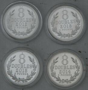 UK + GUERNSEY 2 POUND 8 DOUBLES SILVER GOLD COIN COLLECTION RARE job lot BUNDLE