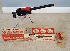 vintage toy Mattel-O-Matic cap firing air cooled machine gun original box
