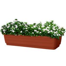 2 Plastic Window Box Planter 24-Inch Terracotta indoor outdoor balcony Pack of 2