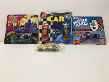 Cars Lot Of (4) Kellogg's Frosted-Mc Donald's-Kellogg&#03 9;s Spooky & Cheerios 1/64