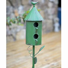 Ctw Vintage Style Two Story Morning Glory Bird House With Garden Stake 770203