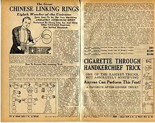 1939 small 2 Pg Ad Magic Chinese Linking Rings Chung Ling Soo Buddhist Swastika