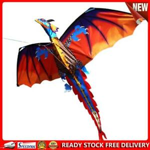 Colorful Kite 3D Dragon Outdoor 100m Surf Flying Game Children Kids Toys