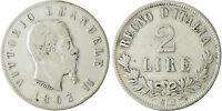 ITALIE   VICTOR  EMMANUEL II  ,  2  LIRE    1863  NAPLES  TYPE  II