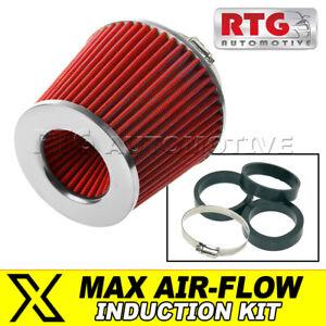 Kit Induction Performance Filtre à Air – Cône, Rouge + Chrome Pour VW