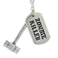Zombie Killer Necklace Dog Tags Apocalypse Retro Horror Sci Fi Rockabilly Punk