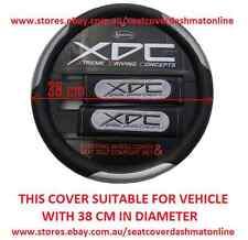 XDC BLACK & GREY STEERING WHEEL COVER MAZDA RX7,MX5,ASTINA,BRAVO,121,323,626,929