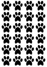 PAW PRINTS Dog Cat - 3cm - A5 Sheet / 24 per sheet BLACK
