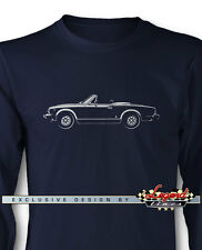 Fiat 124 Sport Spider 1974 - 1982 Long Sleeves T-Shirt - Multiple Colors & Sizes
