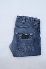 Wrangler Floyd Mens Blue Straight Leg Denim Cotton Faded Jeans W32 L31