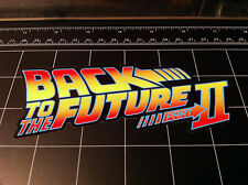 Back to the Future 2 movie logo style decal / sticker bttf Marty Mcfly Delorean