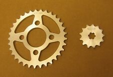 NEW KAWASAKI MT1 & KV75 STEEL REPLACEMENT SPROCKET & CHAIN SET