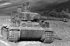 Captured German Tiger I in Tunisia, WWII, WW2 World War Two Afrika Korps Germany