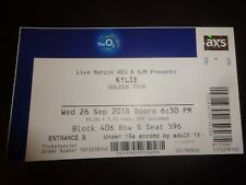 Kylie Used Concert Ticket - O2 London September 2018