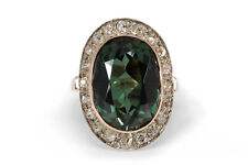 Ring Turmalin Diamanten insg ca 0,70 ct J/si 585 Roségold Gr 57 [BRORS 17729]