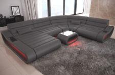 Fabric Interior Design Ravenna XXL Shape With LED Lighting Ottoman USB Mix White Sun Velvet Beige 1021 Lying Right