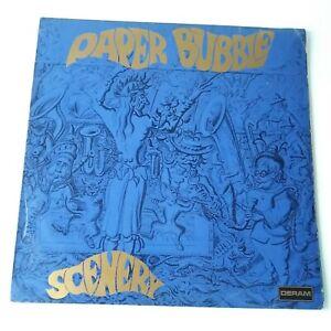 Paper Bubble - Scenery - Vinyl LP Rare SIGNED UK 1st Press EX/EX