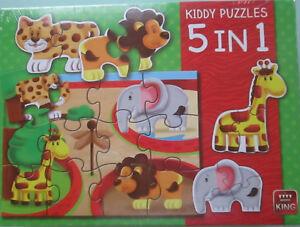 Kiddy Puzzles zoo Kinderpuzzle 5 in 1 von King neu OVP