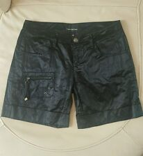 BLACK SATIN CARGO SHORTS BY CALVIN KLEIN SIZE 26