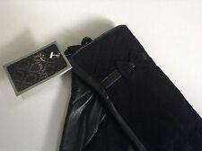 8.5 100% Auth Birreti 2017 Collection 100% Genuine Suede Leather Black Gloves.