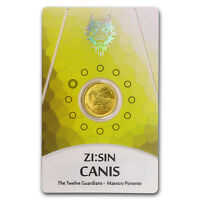 2018 South Korea 1/10 oz Gold ZI:SIN Canis BU (in Assay Card) - SKU#185319