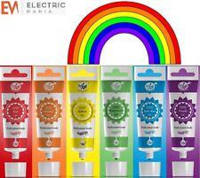 Rainbow Dust ProGel Glaseado Color Pegar Gel Colorante Alimenticio pastelería conjunto 6 Pack