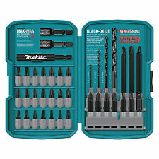 Makita 38 Piece Impact Drill and Driver Hex Shank Black Oxide Bit Set | T-01373