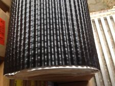 Blei Wandanschlussband Kaminband Waffel 3D SCHWARZ selbstklebend 1mx30cm