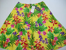 Ralph Lauren Black Label 100% Silk Floral Pattern Skirt NWT size 4 $898