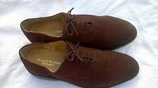 MENS SAMUEL WINDSOR HAND MADE SHOES BROUGES SIZE 7.5 BROWN SUEDE