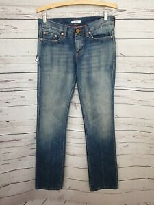 LEVIS RED LOOP womens 'Debbie' fit jeans size W28 L33 straight leg low rise #566