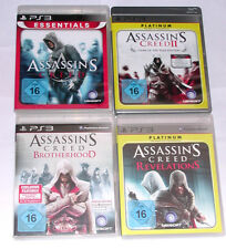 Spiele: ASSASSIN´S CREED 1 + 2 + BROTHER + REVELATIONS für die Playstation 3/PS3