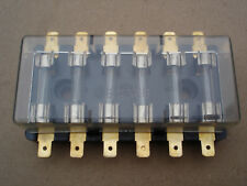 Classic Type 6 Way Fusebox Glass Fuse Box Holder Universal Standard Lucar Crimp