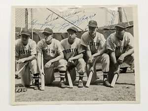 1946 Red Sox Type 1 Photograph AUTOGRAPHED Doerr Pesky DiMaggio Williams York