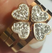 Love Heart Promise Ring size 6 Rose Gold Plated 3 piece set