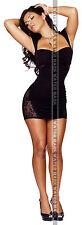 389 SEXY ART DECAL STICKER PIN UP GIRL STUNNING BRUNETTE SLIM FIT BODY HOT DRESS