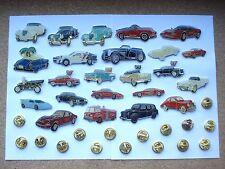 SALE VINTAGE RARE CARS LAMBO JAG MG FERRARI PORSCHE PIN BADGE JOB LOT CAR BUNDLE