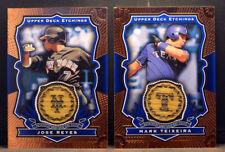 LOT 2 2004 Upper Deck Etchings Game Used Bat JOSE REYES & MARK TEIXEIRA NM+